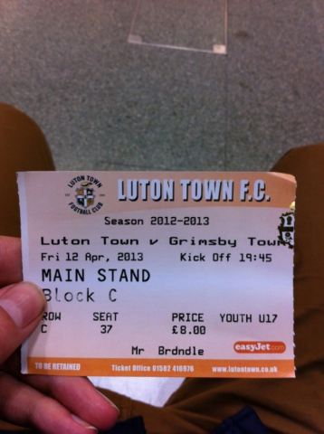 Luton Town FC 1–1 Grimsby Town